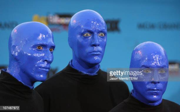 Blue Man Group during 2005 Billboard Music Awards Arrivals at MGM Grand in Las Vegas Nevada United States