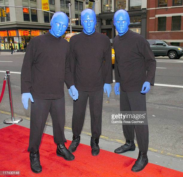 Blue Man Group during Blue Man Group Host Vortex Art Competition May 8 2006 at Serafina in New York City New York United States