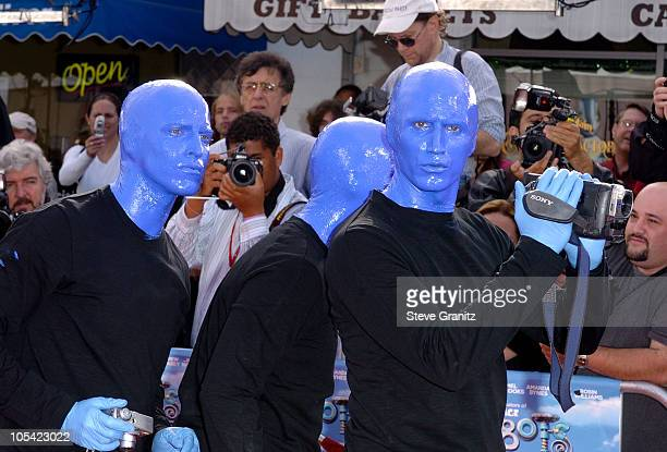 Blue Man Group during Robots Los Angeles Premiere Arrivals at Mann Village Theatre in Westwood California United States