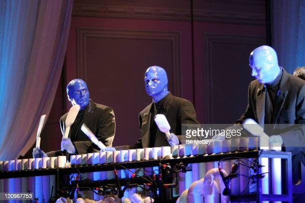 Blue Man Group performing live with the Philadelphia Orchestra on the Orchestra's 151st Anniversary January 262008 Philadelphia Pennsylvania