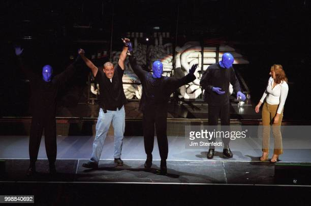 Blue Man Group performs at the Shrine Auditorium in Los Angeles California on August 7 2003