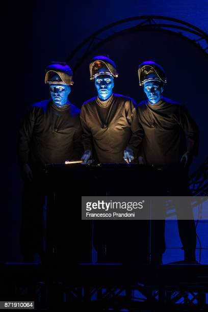 49 Blue Man Group Perform In Milan Photos And Premium High Res Pictures