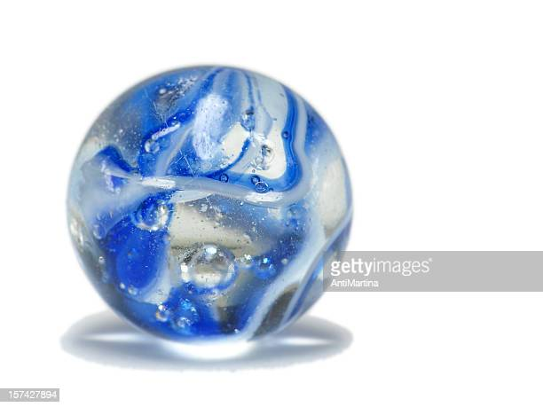 blue marble isolated on white