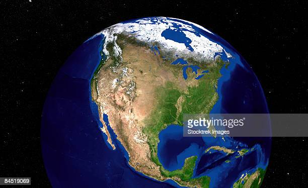 blue marble next generation seasonal landcover. - rocky mountains north america stock pictures, royalty-free photos & images