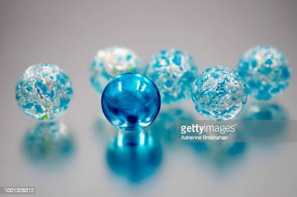 Blue Marbles Still Life
