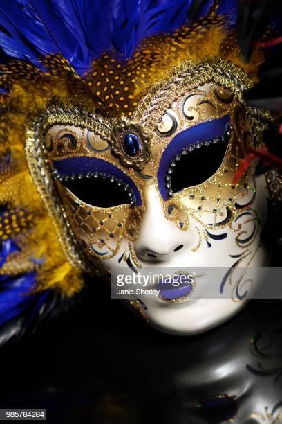 blue mardi gras mask - gras bildbanksfoton och bilder