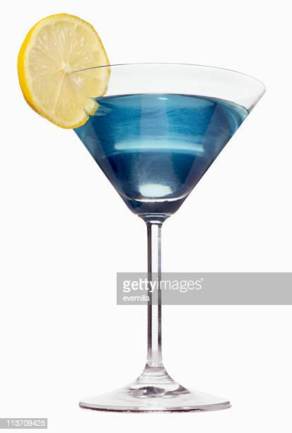 blue martini cut out on white