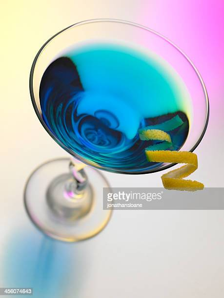 Blue Martini on a colorful background