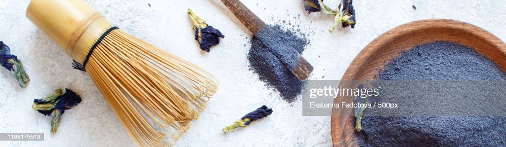 Blue Matcha Powder : Stock Photo