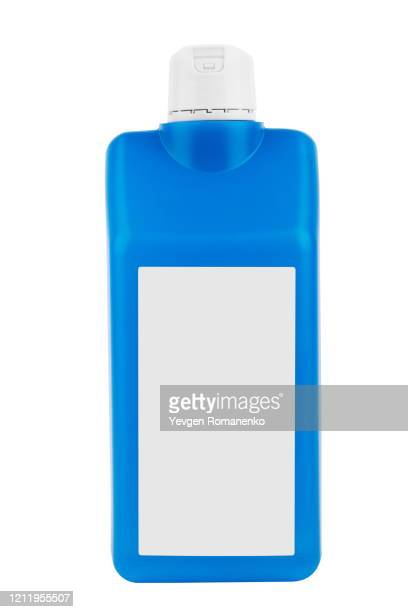 blue medical bottle with skin antiseptic isolated on white background - antiseptic stock pictures, royalty-free photos & images