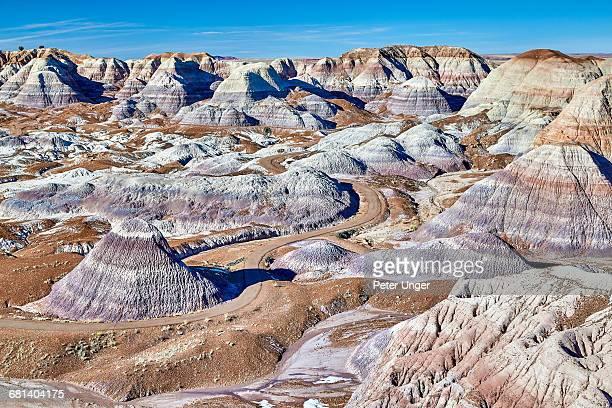 Blue Mesa Badlands,Petrified Forest National Park