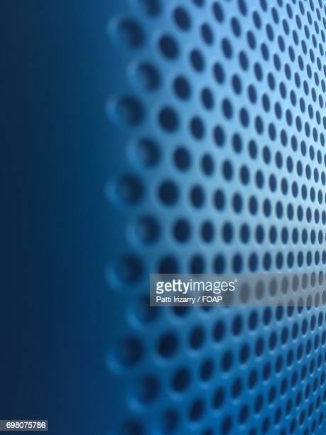 Blue metallic round mesh background