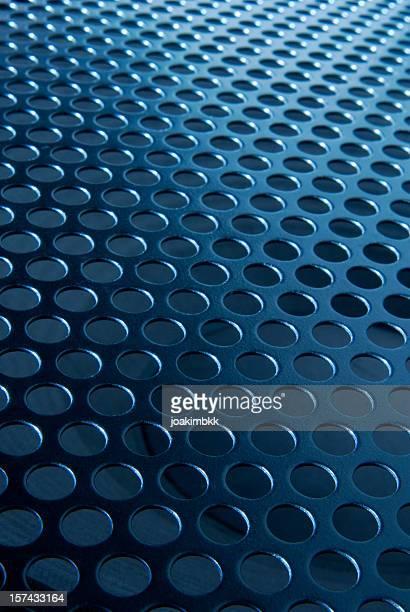 Blue metallic rounded mesh background