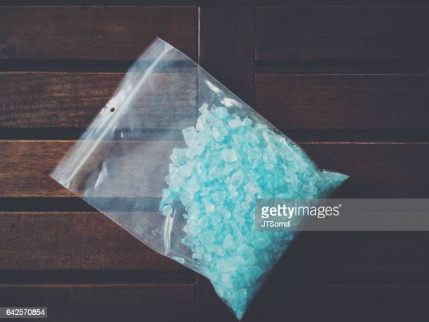 blue meth - drug smuggling stock photos and pictures