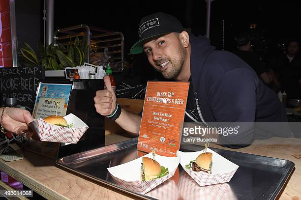 Blue Moon People's Choice Award winner Chef Joe Isidori of Black Tap attends the Blue Moon Burger Bash presented by Pat LaFrieda Meats hosted by...