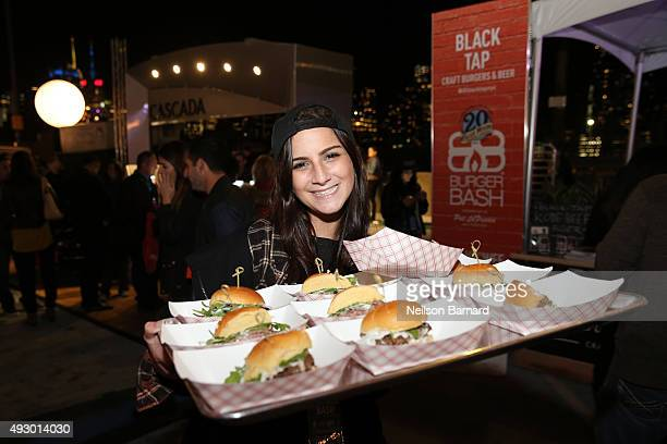 Blue Moon People's Choice Award winning burgers by Chef Joe Isidori of Black Tap available during the Blue Moon Burger Bash presented by Pat LaFrieda...