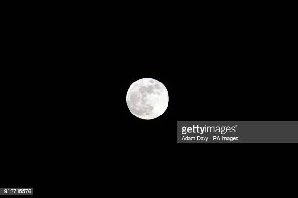 A blue moon rises over Wembley London