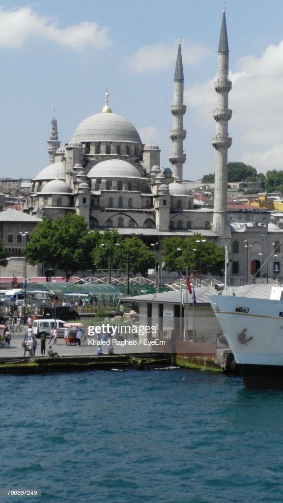 Blue Mosque Against Sky : Stock Photo