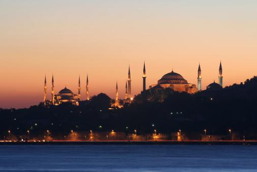 Blue mosque and  Hagia Sofia 172410413