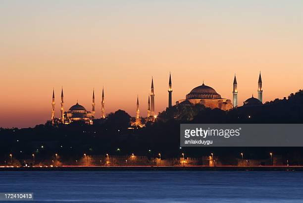Blue mosque and  Hagia Sofia