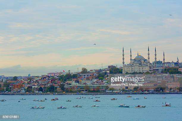 Blue Mosque and waterfront, from Bosphorus Straits
