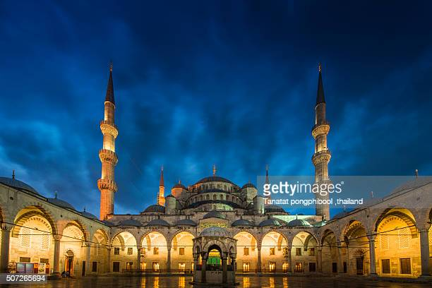 blue mosque at istanbul, turkey. - blue mosque stock pictures, royalty-free photos & images
