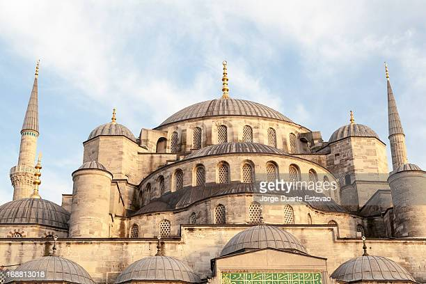 blue mosque in istanbul at sunset - jorge duarte estevao stock pictures, royalty-free photos & images