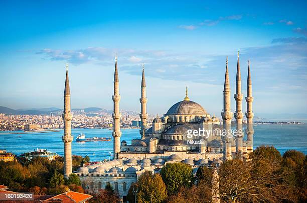 blue mosque in istanbul - byzantine stock photos and pictures