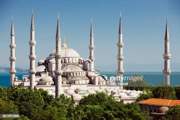 blue mosque in istanbul - istanbul foto e immagini stock