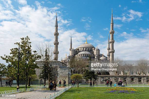 Blue mosque in Istanbul, Turkey.The biggest mosque in Istanbul of Sultan Ahmed (Ottoman Empire).