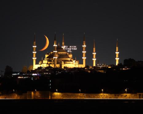 Blue mosque in Ramadan 176078324