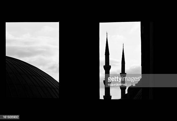 blue mosque istanbul - minaret stock pictures, royalty-free photos & images