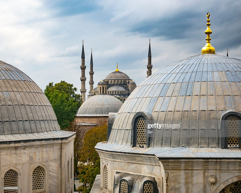 Blue Mosque or Sultan Ahmed Mosque in Istanbul : Stock Photo