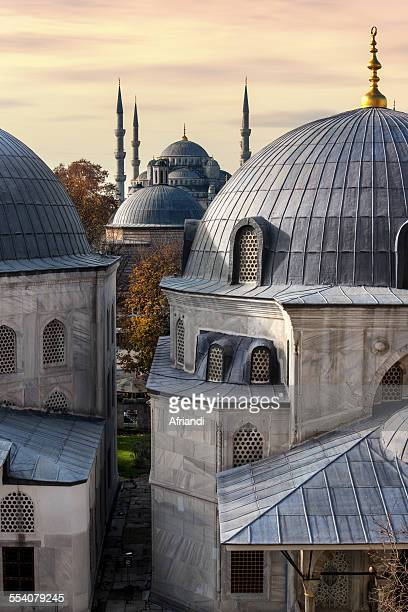 blue mosque - hagia sophia stock pictures, royalty-free photos & images