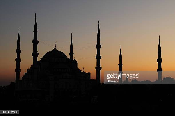 Blue Mosque silhouette