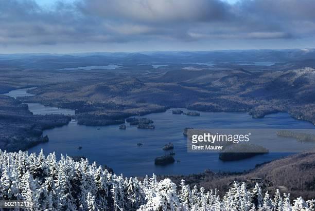Blue Mountain Lake in Early Winter, Adirondack Park, NY USA