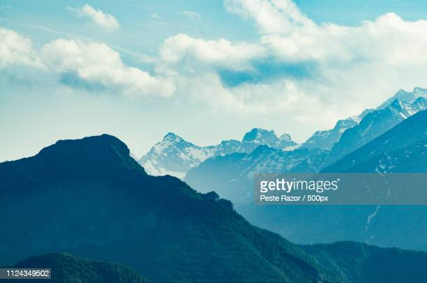 blue mountain landscape - teal stock pictures, royalty-free photos & images
