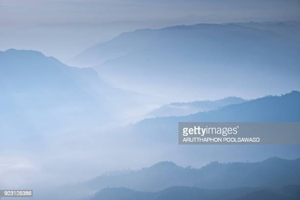 blue mountain layer of mountain for nature background - katoomba stock pictures, royalty-free photos & images