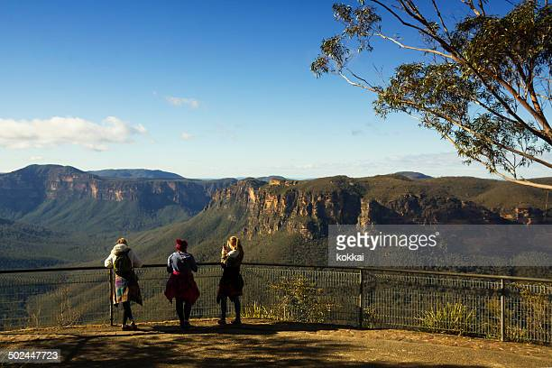 blue mountains - evans lookout - blue mountains national park stock pictures, royalty-free photos & images
