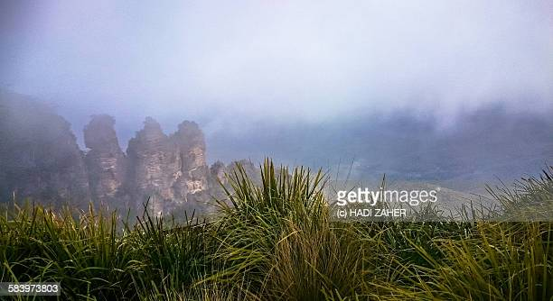 blue mountains national park | australia - sydney rain stock pictures, royalty-free photos & images