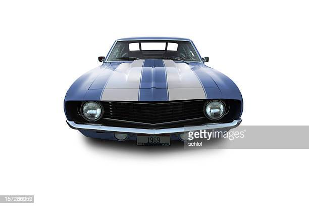 Blue Muscle Car - 1969 Camaro
