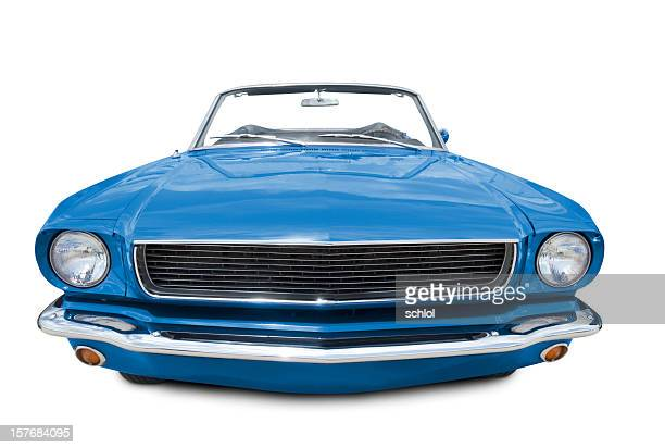 Blue Mustang Convertible 1966