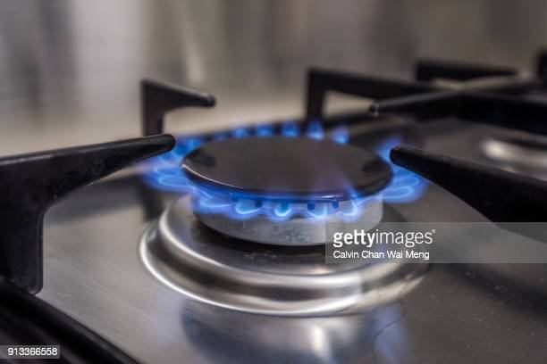 Blue Natural Gas Flame