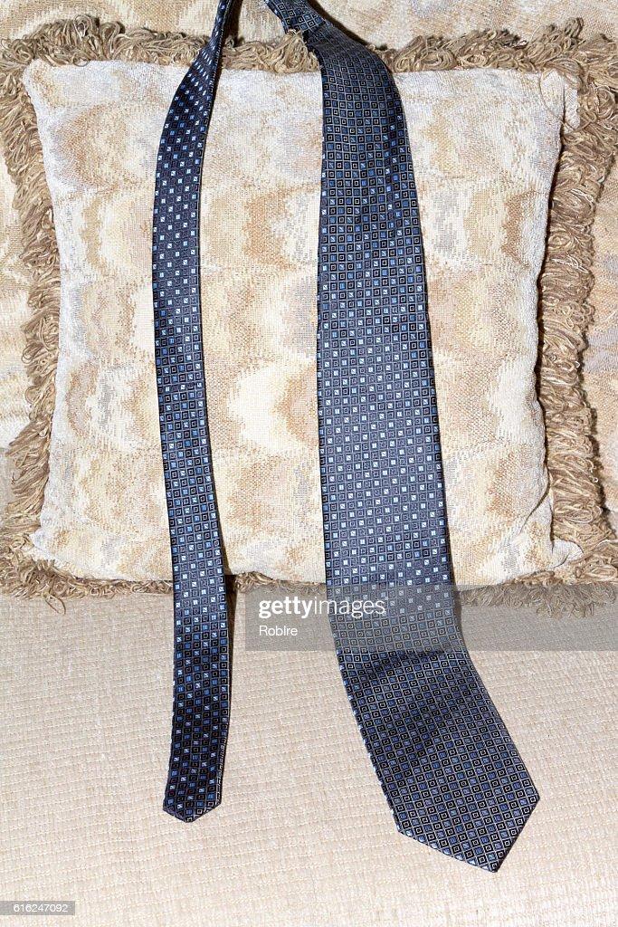Pescoço de laço azul : Foto de stock