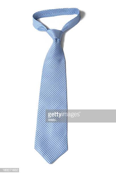 Blue Necktie on White