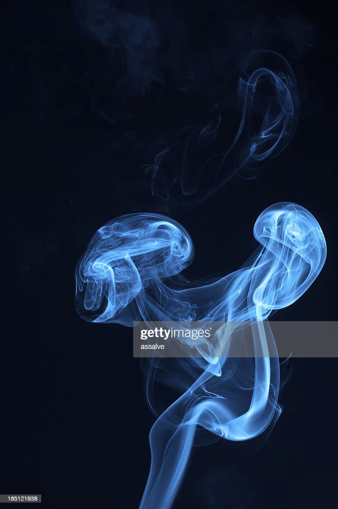 Blue Neon Abstract Smoke Waves High Res Stock Photo Getty