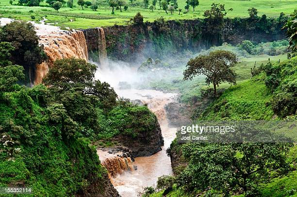 blue nile falls in tis abay, ethiopia - ethiopia stock photos and pictures