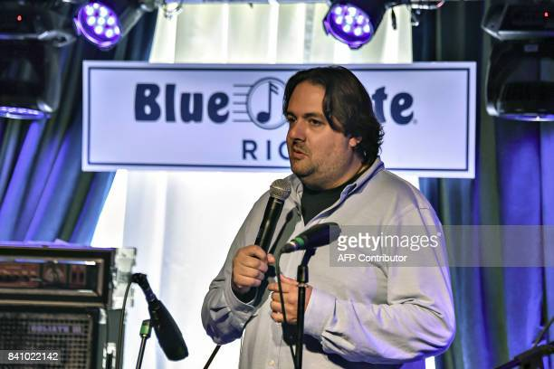 Blue Note's president Steven Bensusan speaks during the opening ceremony of the first Blue Note branch in the southern hemisphere on August 30 2017...