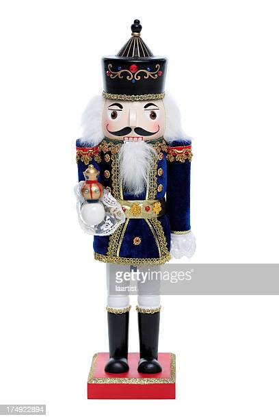 blue nutcracker. - dolly golden stock pictures, royalty-free photos & images