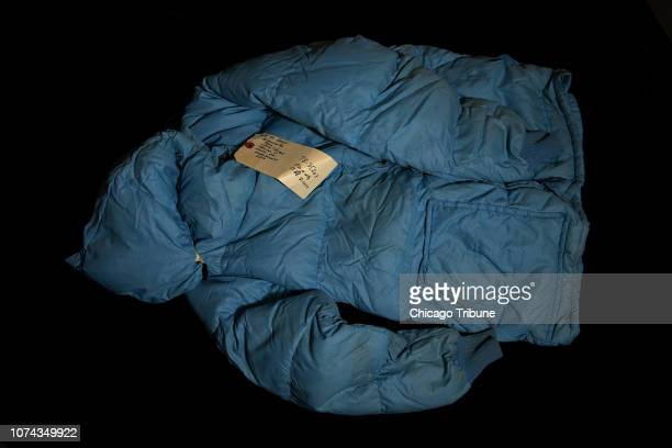 A blue nylon jacket belonging to Maine West sophomore Robert Piest was found in John Wayne Gacy's home